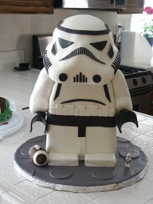 Incredible 11 Lego Stormtrooper Birthday Cakes Photo Lego Stormtrooper Cake Birthday Cards Printable Opercafe Filternl
