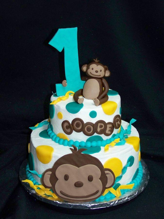 Terrific 5 Monkey 1St Birthday Cupcakes Photo Monkey First Birthday Cake Personalised Birthday Cards Xaembasilily Jamesorg