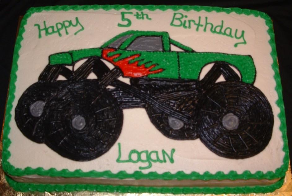 11 Easy Monster Truck Cakes One Layer Photo Monster Truck Birthday