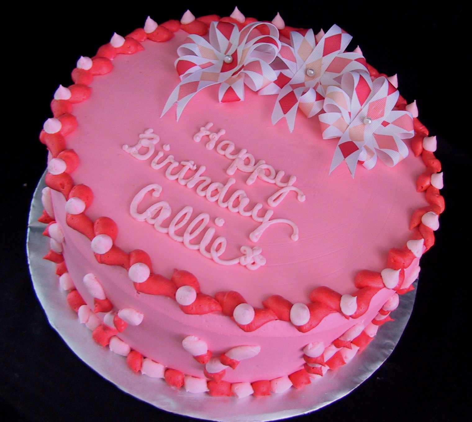 11 Birthday Cakes That Are Pink Photo Pink Birthday Cake Pink