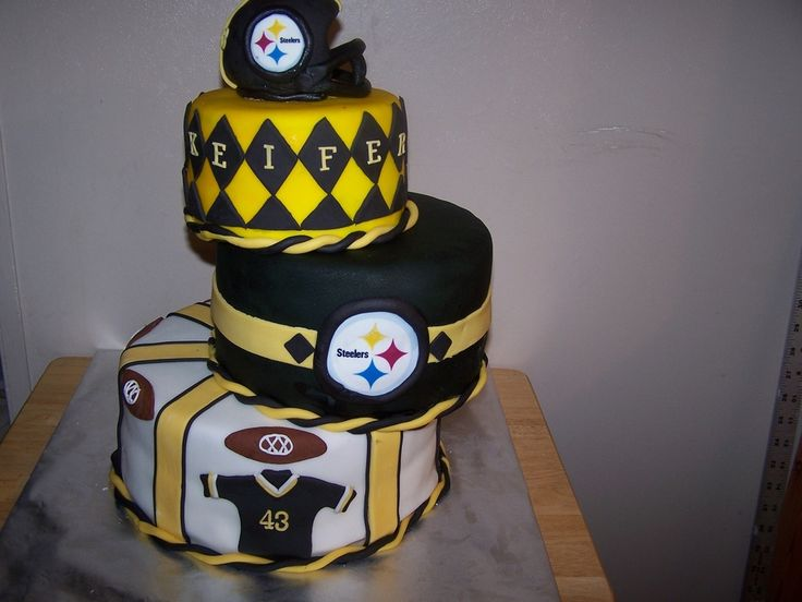 Stupendous 11 Steelers Football Themed Birthday Cakes Photo Pittsburgh Funny Birthday Cards Online Aeocydamsfinfo