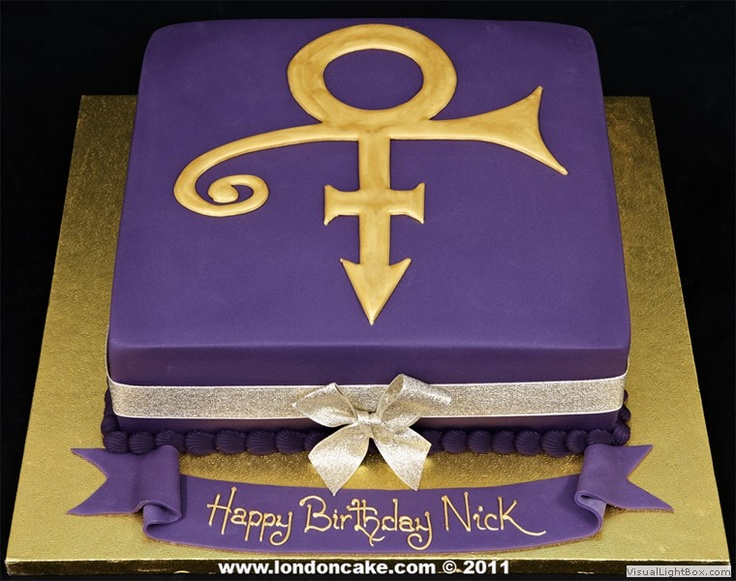 Prince Purple Rain Birthday Cake
