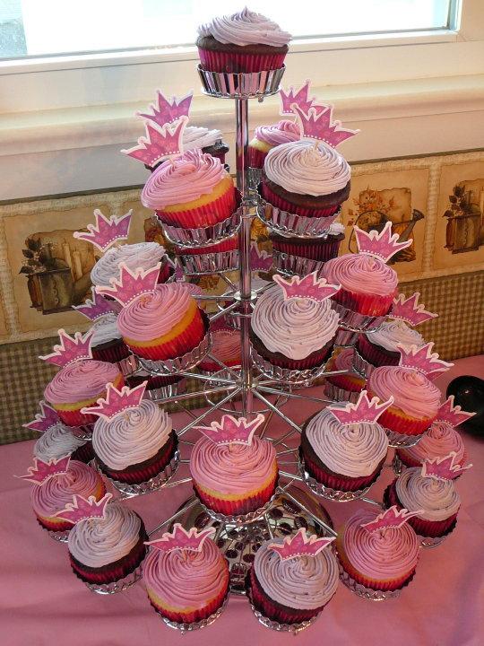 Princess 1st Birthday Cupcake Cake