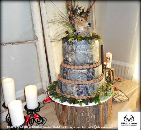 Realtree Camo Cake Decorations & 6 Realtree Camo Wedding Cakes Photo - Camouflage Camo Wedding Cake ...