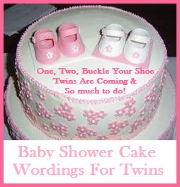 12 Sayings For Twins Girls Baby Showers Cakes Photo Twin Baby