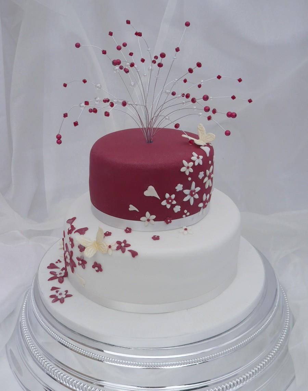 10 Two Tier Cakes Photo Two Tier Wedding Cake 2 Tier Wedding