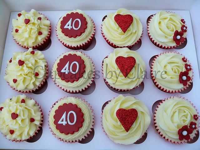 9 40th wedding anniversary cupcakes photo 40th anniversary