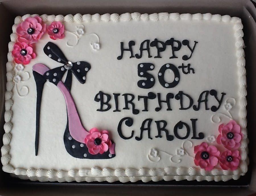 6 50th Birthday Sheet Cakes Photo 50th Birthdays Sheets Cakes Idea