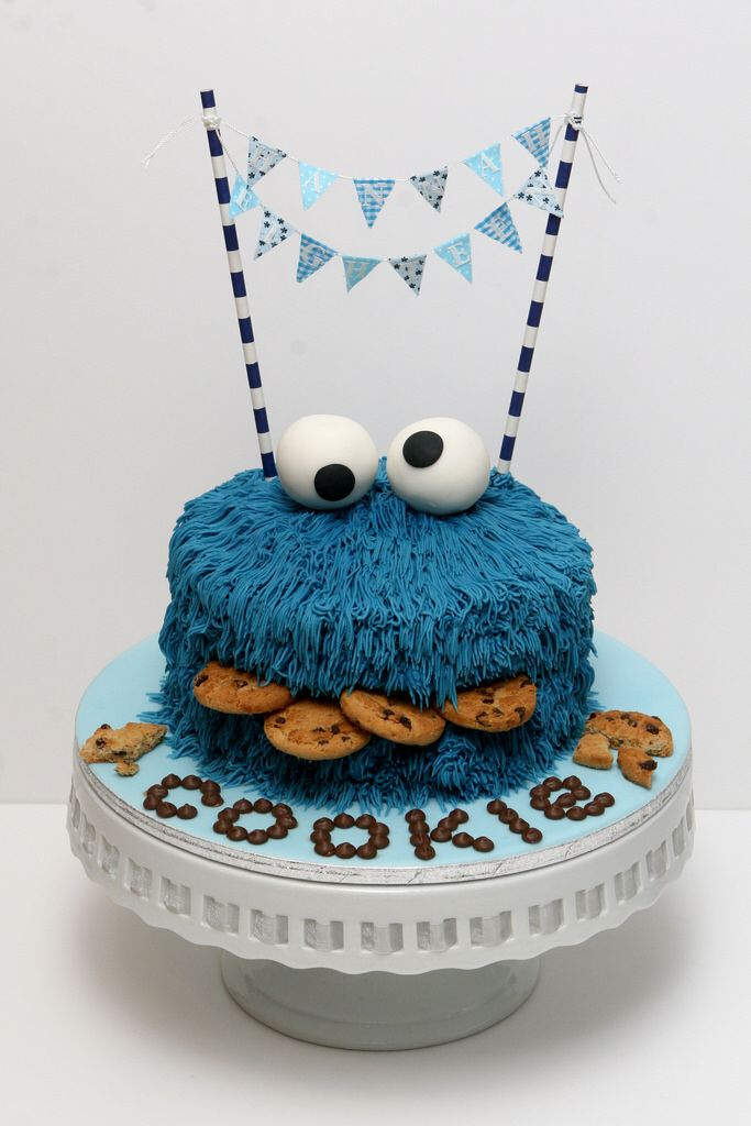 Cookie Monster 1st Birthday Cakes For Boys