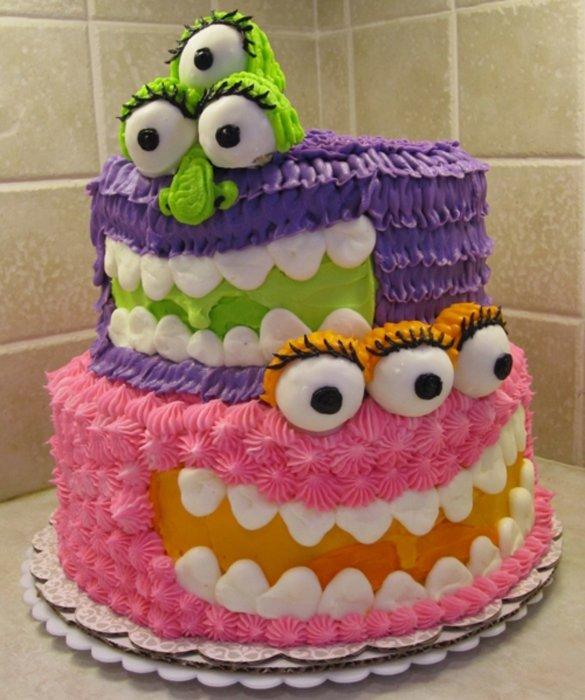Sensational 11 Awesome Easy Cakes For Birthdays Photo Cute Monster Cake Funny Birthday Cards Online Hendilapandamsfinfo