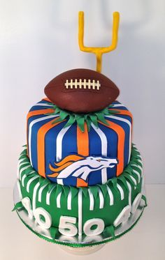 Tremendous 10 Best Birthday Cakes Denver Photo Denver Broncos Birthday Cake Birthday Cards Printable Trancafe Filternl