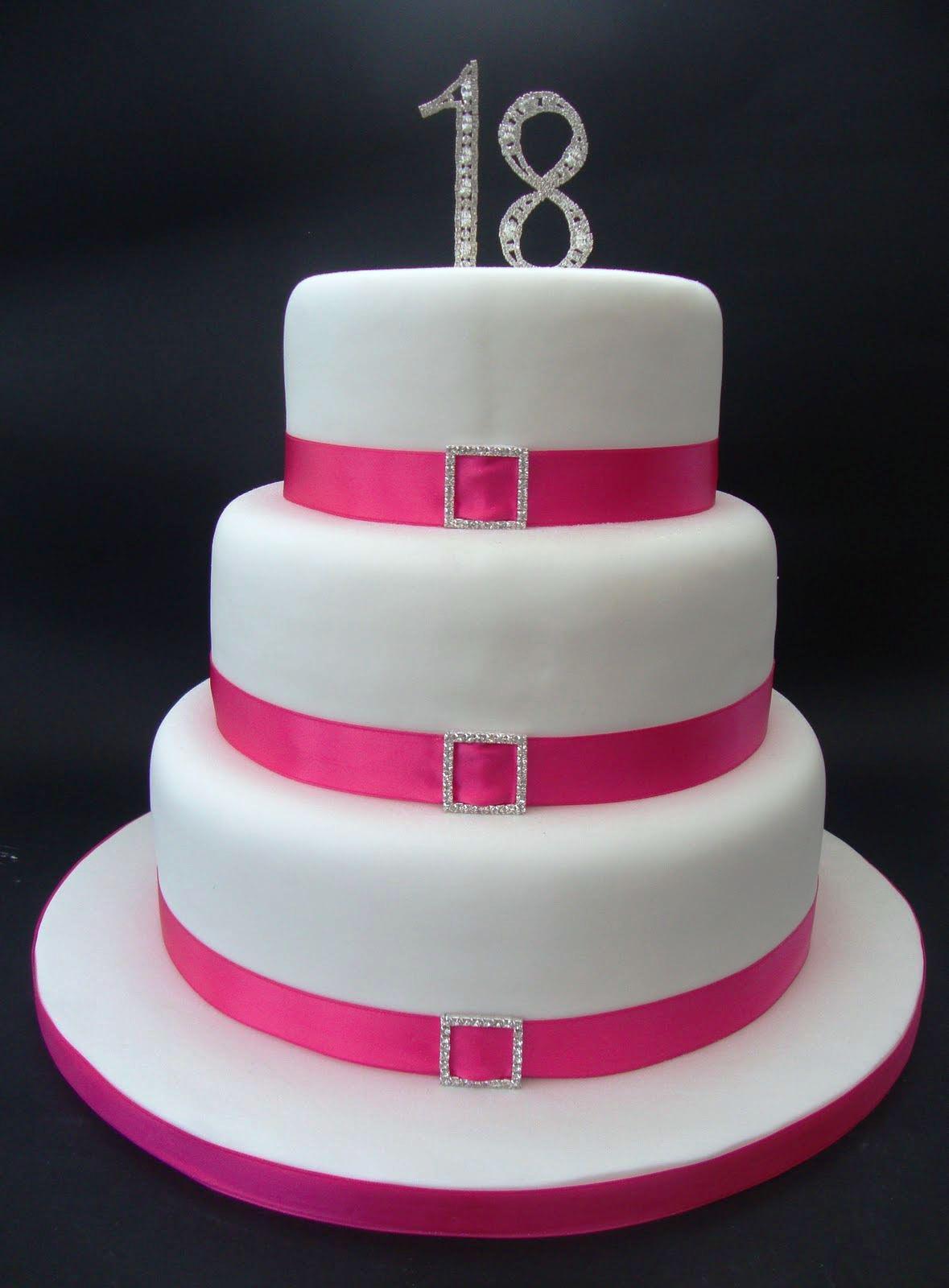 7 Elegant Birthday Cakes For Girls 18th Photo Elegant 18th