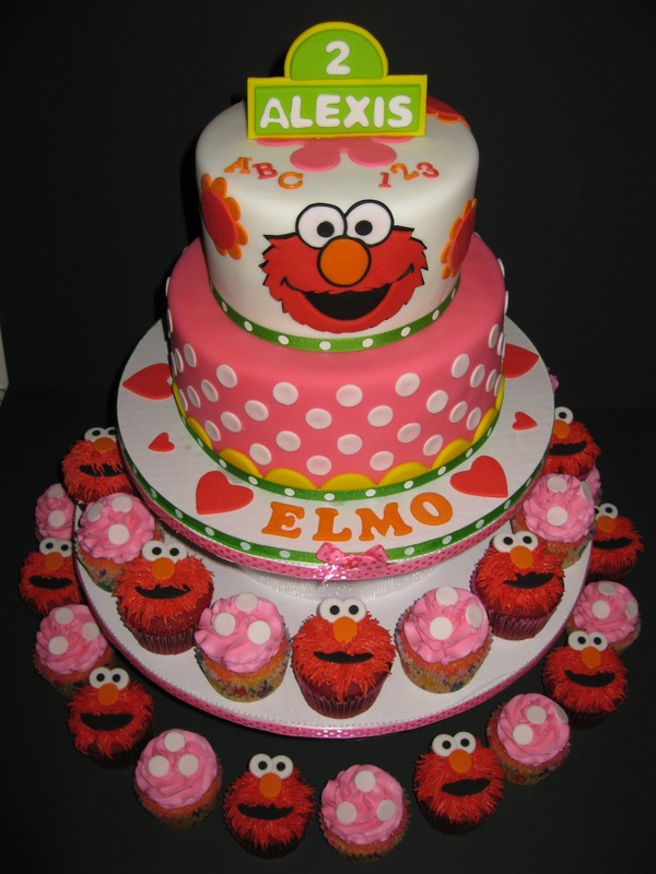 Elmo Cupcake Birthday Cakes For Girls