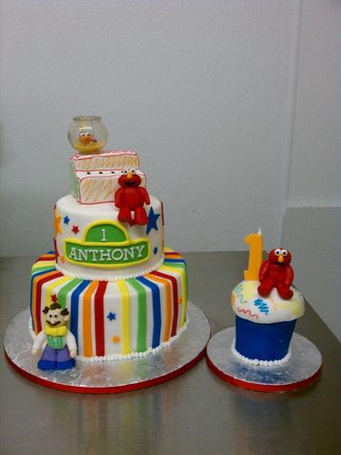 Elmo First Birthday Smash Cake