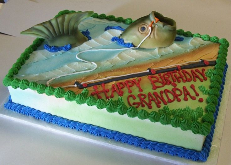 11 Desighns For Cakes Easy Fish Photo Tropical Fish Birthday Cake
