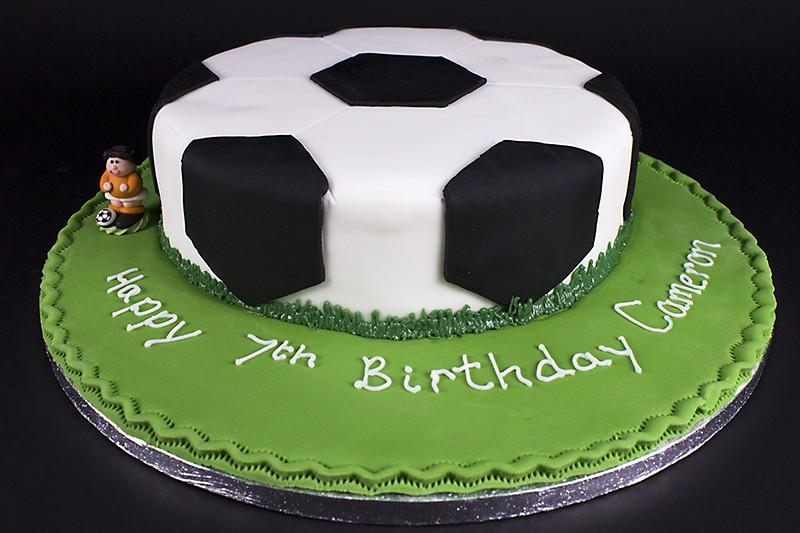 7 Football Mom Birthday Cakes Photo Soccer Ball Cake Happy