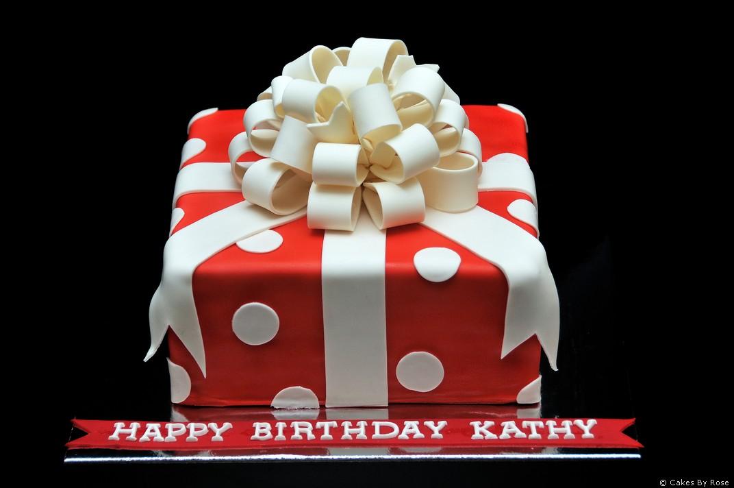 11 Gift Box Birthday Cakes Photo Gift Box Birthday Cake Tiffany