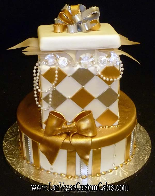 11 Silver Women S Birthday Cakes Photo Gold And Silver Birthday
