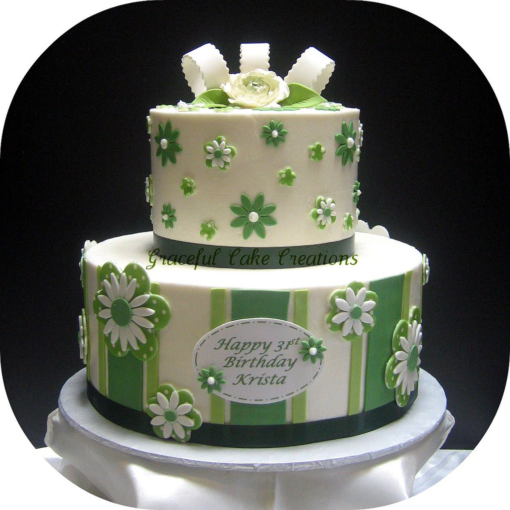 Fine 10 R Green Birthday Cakes Photo Green And White Birthday Cake Personalised Birthday Cards Veneteletsinfo