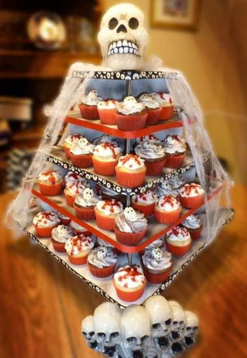Image result for halloween cupcake war display