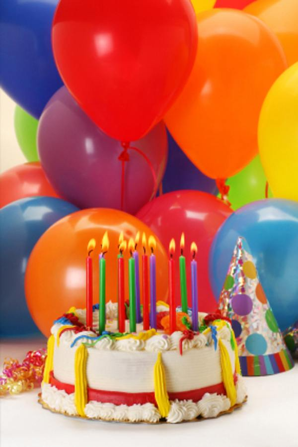 Excellent 4 Pitures Of Balloons With Birthday Cakes Photo Happy Birthday Personalised Birthday Cards Veneteletsinfo