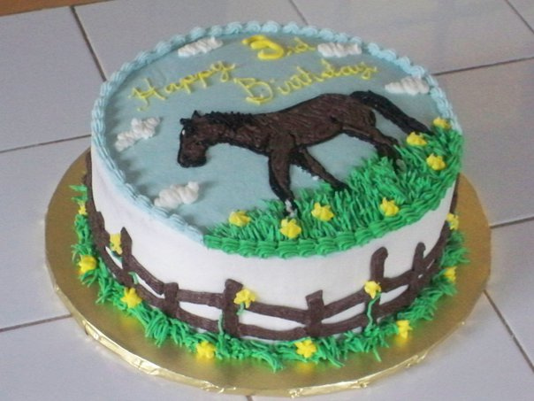12 Birthday Cakes Horse With Its Owner Photo