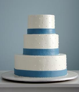 7 Blue Ribbon With Two Tier Wedding Cakes Photo Royal Blue Wedding