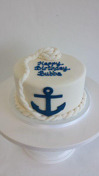 Brilliant 8 Anchor Shaped Birthday Cakes Photo Anchor Birthday Cake Funny Birthday Cards Online Inifodamsfinfo