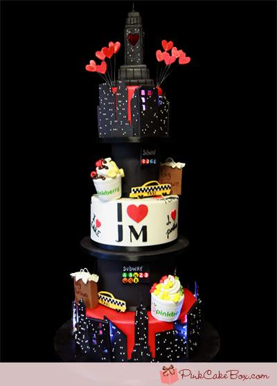 New York City Themed Birthday Cake