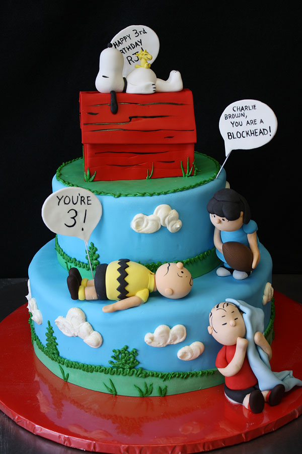 12 Snoopy First Birthday Cakes Photo Snoopy Birthday Cake Snoopy
