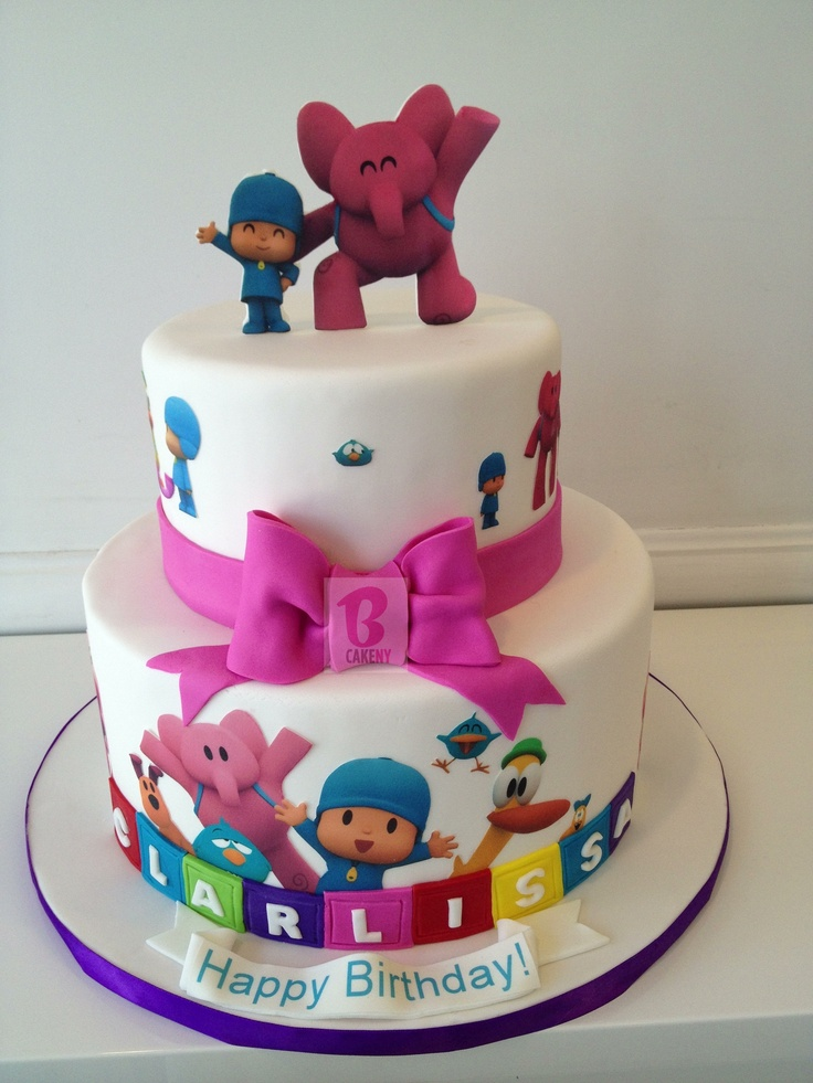 Outstanding 7 Pocoyo Cakes For Girl Photo Pocoyo Birthday Cake Happy Funny Birthday Cards Online Elaedamsfinfo