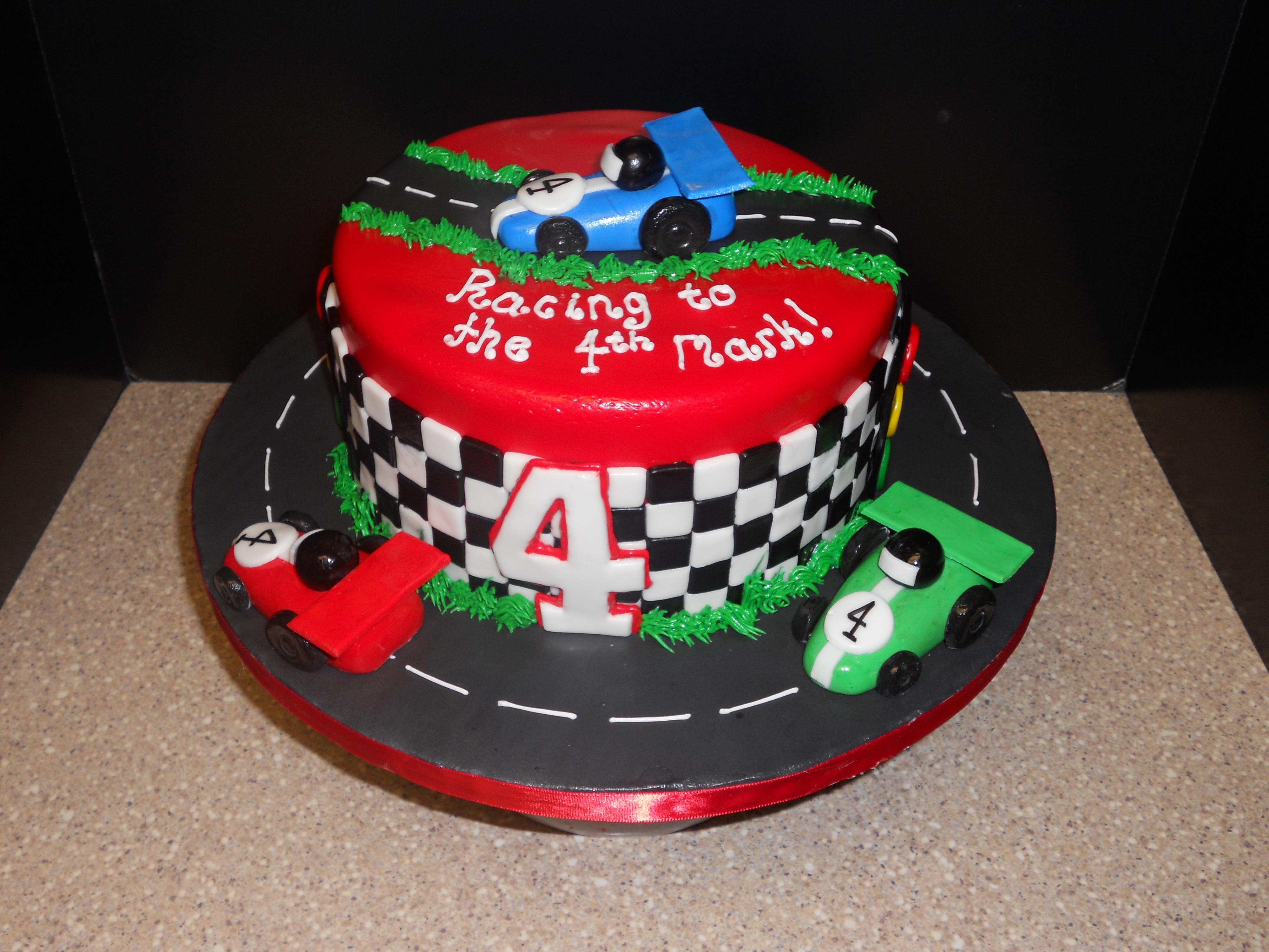 13 Race Car Party Cakes Photo Race Car Track Birthday Cake Race