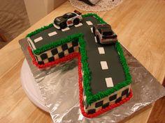 Excellent 11 Race Car Cakes For Boys 7 Photo Race Car Birthday Cake Cars Funny Birthday Cards Online Inifodamsfinfo