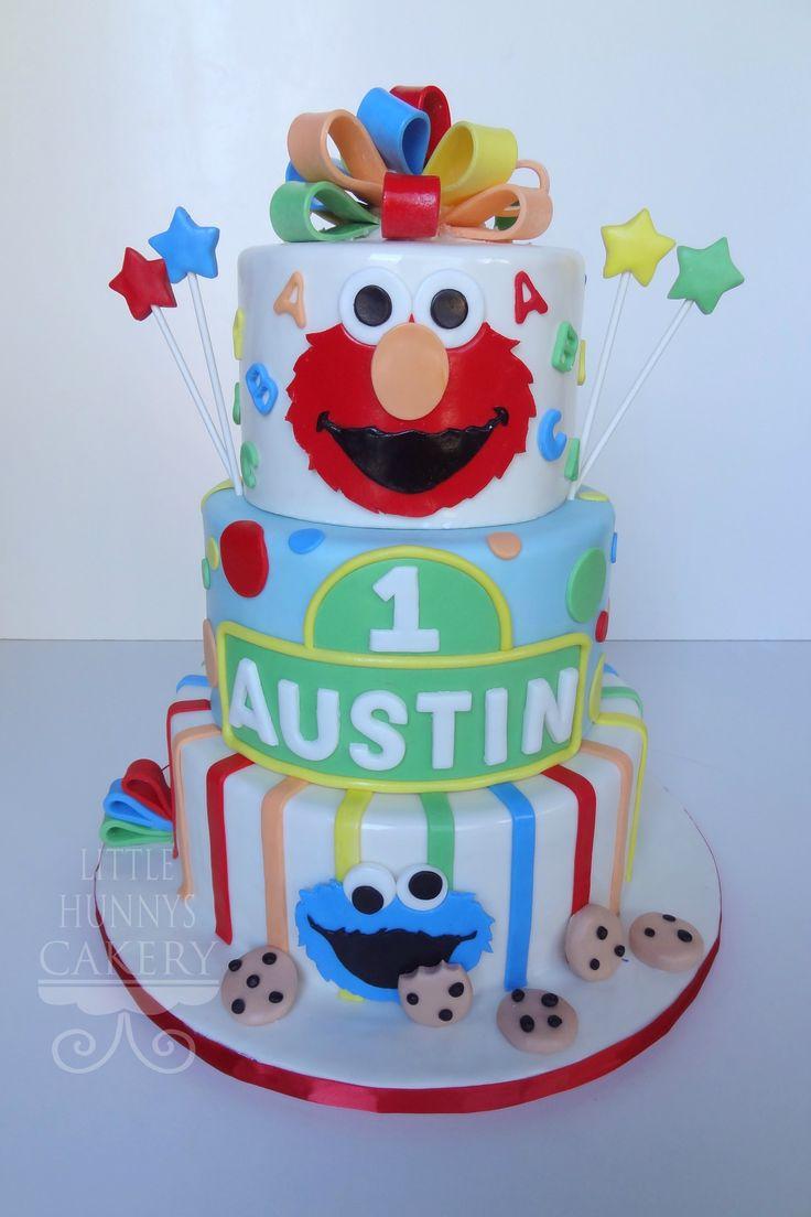 Astounding 5 Sesame Street 1St Birthday Cakes Photo Sesame Street Birthday Funny Birthday Cards Online Alyptdamsfinfo