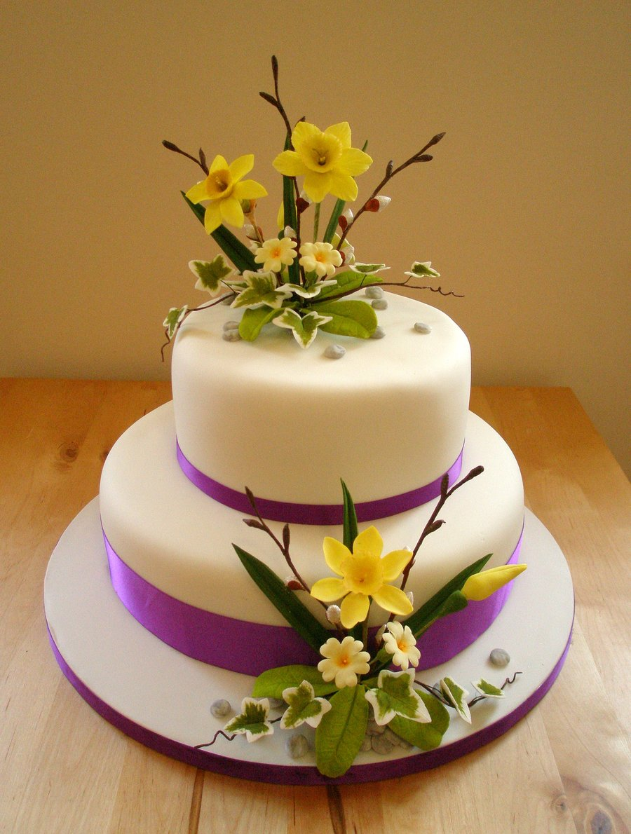 10 round wedding cakes with spring flowers photo 3 tier wedding spring wedding cake with flowers mightylinksfo