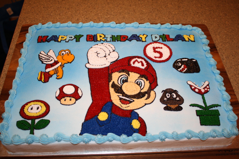 Swell 10 Luigi Sheet Cakes Photo Mario And Luigi Birthday Cake Ideas Funny Birthday Cards Online Kookostrdamsfinfo