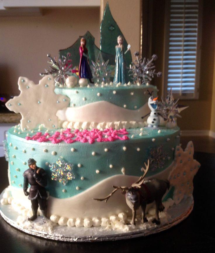 7 Happy Birthday Frozen Cakes Photo Frozen Birthday Cake Ideas