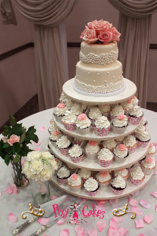 10 Barkery Wedding Cupcakes Photo Wedding Cake With Cupcakes
