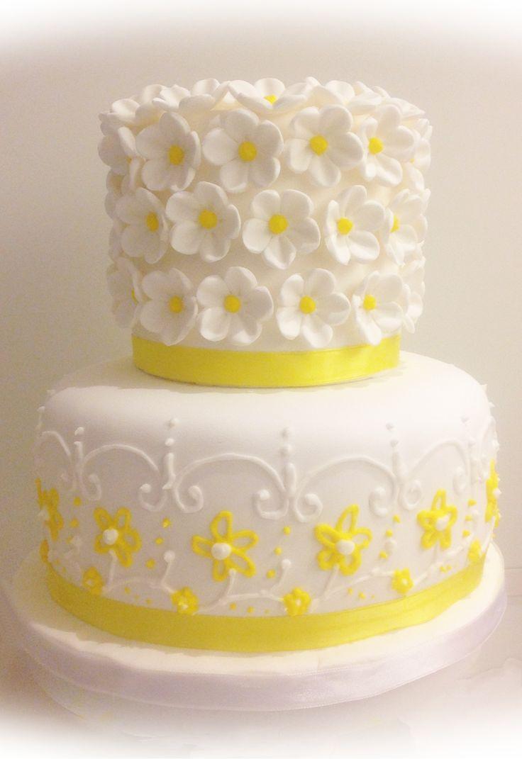 10 yellow wedding cakes with flowers photo yellow themed wedding yellow flowers wedding cake mightylinksfo