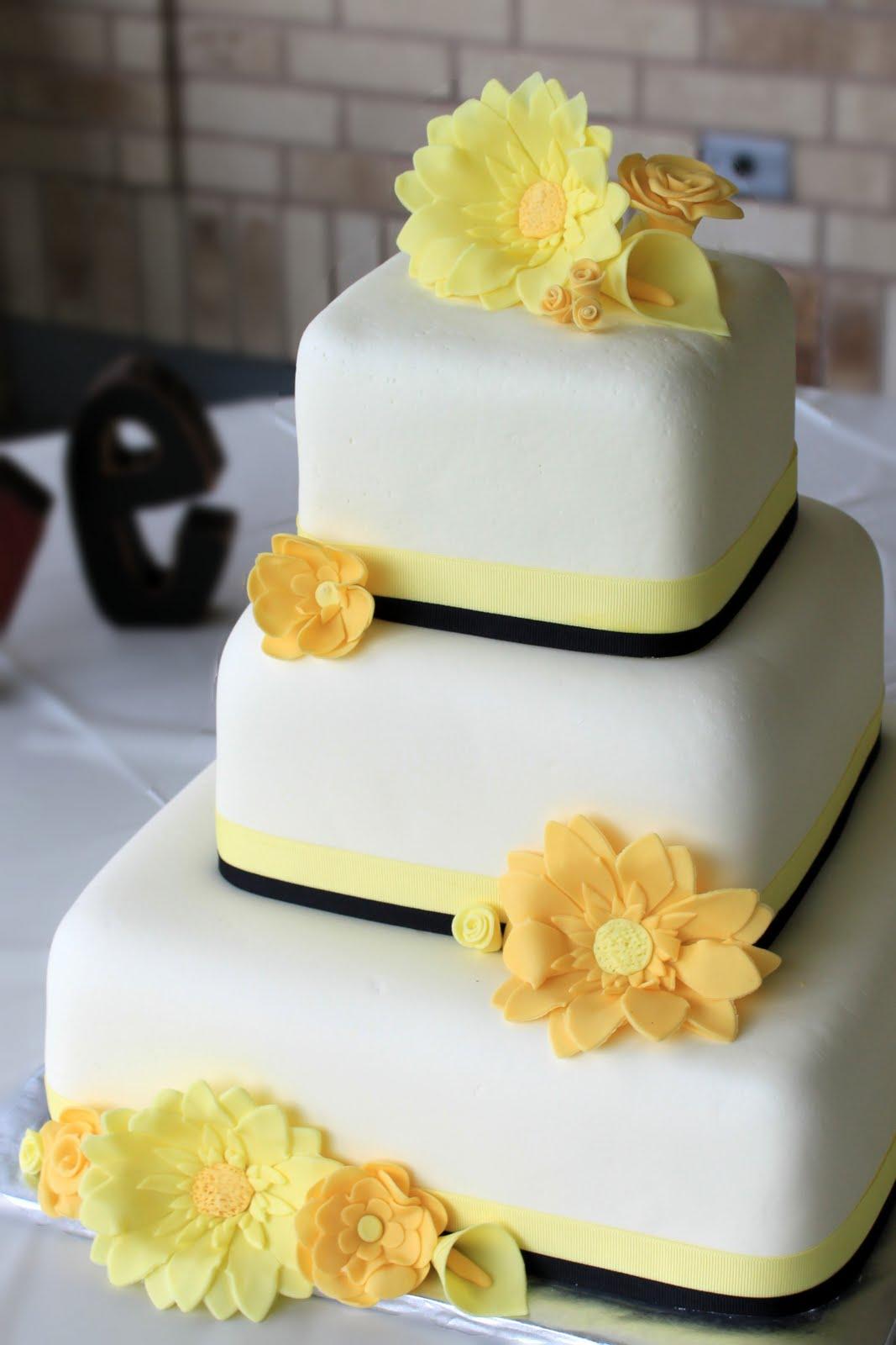 10 yellow wedding cakes with flowers photo yellow themed wedding yellow themed wedding cake mightylinksfo