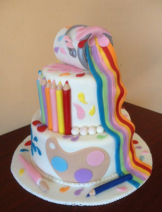 12 Art Inspired Birthday Cakes Photo