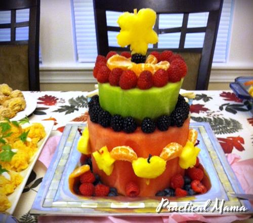 Birthday Cake Made Of Fruit