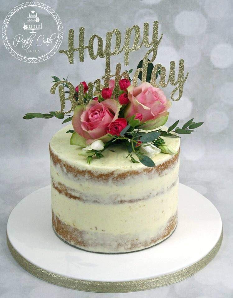 10 Fresh Flower Birthday Cakes Women Photo Birthday Cake with