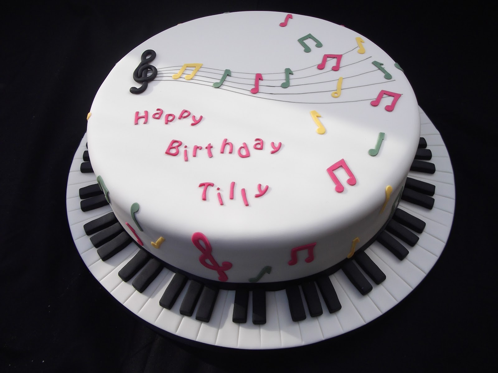 11 Birthday Cakes With Music Theme Photo Cake Music Themed
