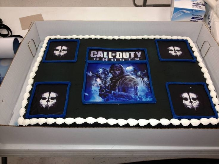 8 Cod Ghosts Birthday Cakes Photo