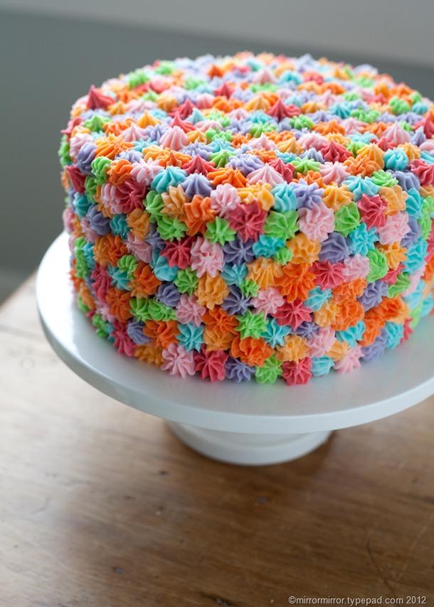 11 Easy Pretty Cakes Decorated Photo Colorful Cake Decorating Idea