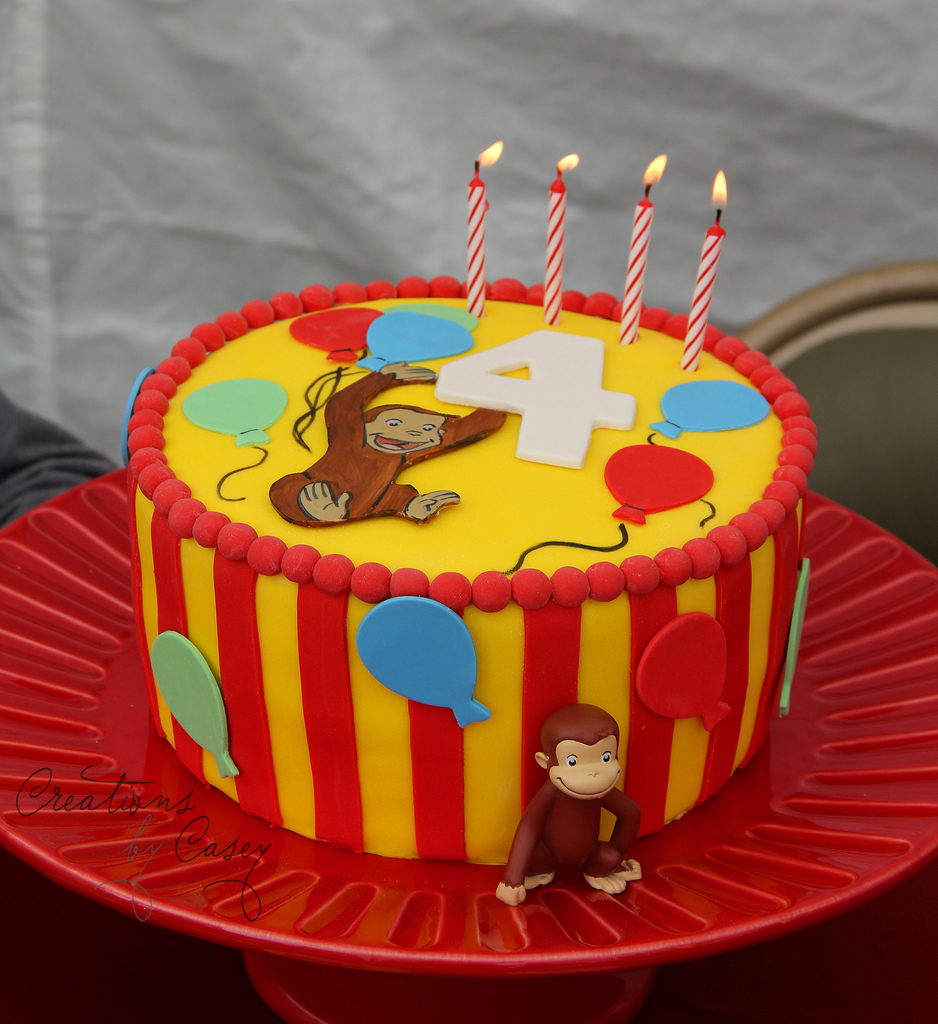 Awesome 10 Curious George Happy Birthday Cakes Photo Curious George Funny Birthday Cards Online Sheoxdamsfinfo