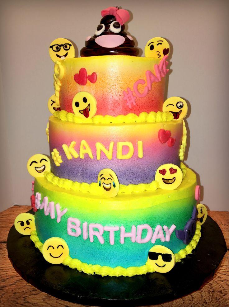 9 Larry 3 Emoji Birthday Party Ideas Cakes Photo