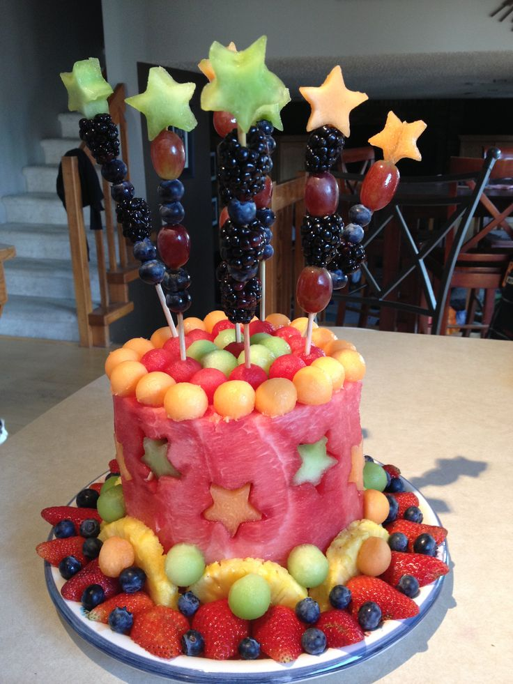 11 Made Out Of Cut Fresh Fruits Cakes Photo