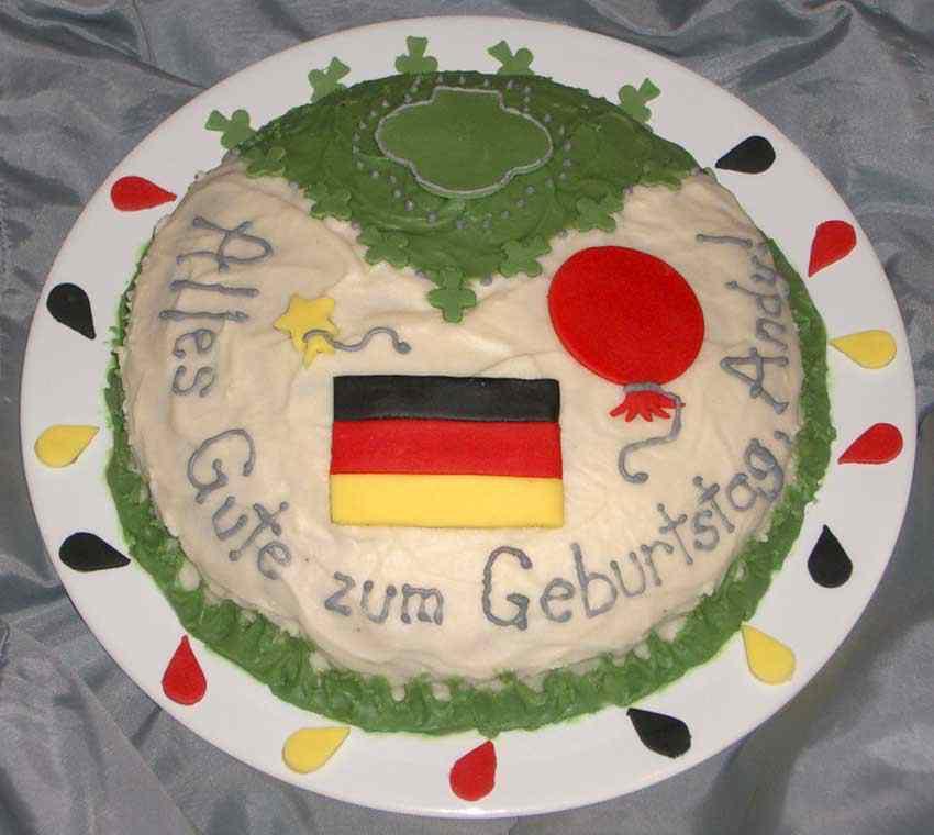 8 Germany Flag Birthday Cakes Photo German Birthday Cake Ideas